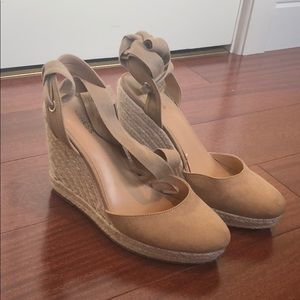 Express Lace-Up Espadrille Wedges